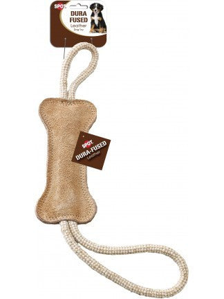 SPOT Dura-Fused Leather & Jute Bone Tug