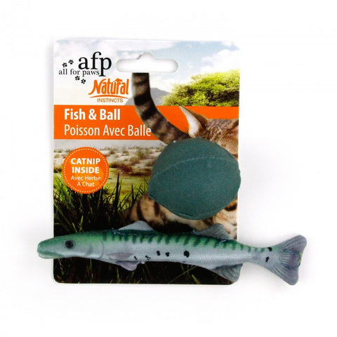All For Paws Cat Toy Natural Instincts Fish & Ball