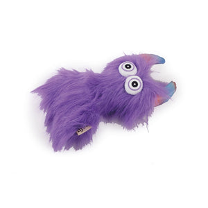 All For Paws Dog Purple Fluffy Monster Squeaky Toy