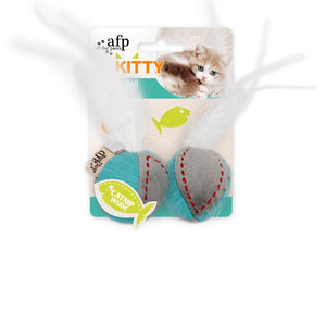 All For Paws Kitty Feather Balls w/Catnip, Kitten Toys