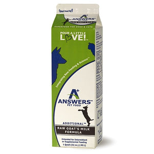 answers pet food raw goats milk formula quart 32 oz