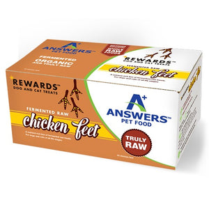 answers pet food rewards raw chicken feet