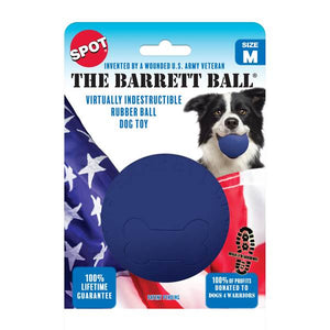 SPOT Barrett Ball - Virtually Indestructible Rubber Ball