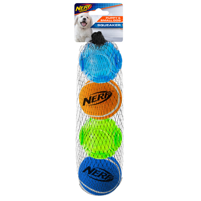 Nerf Dog Assorted Blaster Tennis Balls 4 Pack