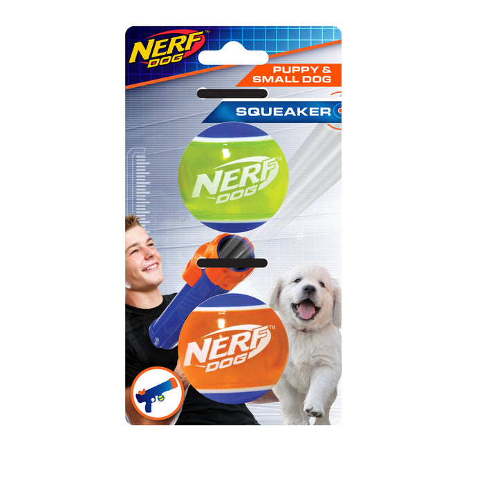 Nerf Dog Assorted Blaster Tennis Balls Mini 2 Pack