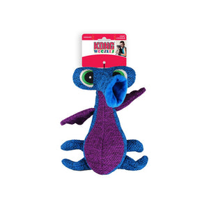 kong woozles blue plush dog toy