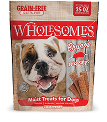 Wholesomes Grain Free Bruno's Moist Pork Treats 25 oz