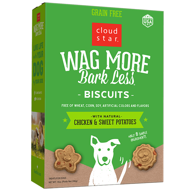 Cloud Star Wag More Bark Less Oven Baked Biscuits - Chicken & Sweet Potato 14 oz
