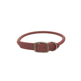 Circle T Rolled Rustic Leather Collar Brick Red