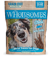 wholesomes whole somes cleos cleo's jerky sticks whiting dog treats