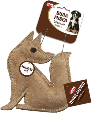 ethical pet spot dura fused leather fox dog toy