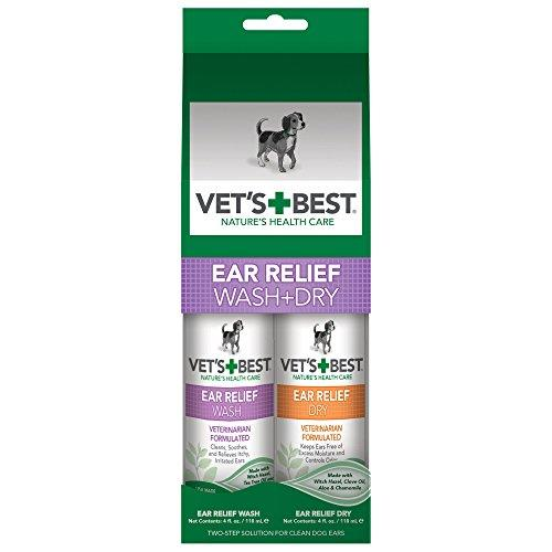 Vet's Best Ear Relief Wash & Dry Combo 4 oz