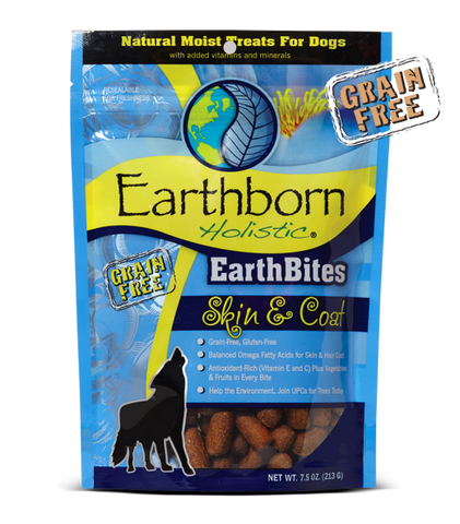 Earthborn Holistic EarthBites Skin & Coat Moist Grain-Free Treat 7.5 oz