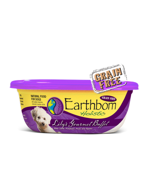 earthborn holistic grain free  lilys gourmet buffet wet food moist food 8 oz