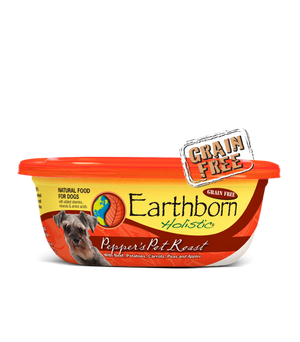 earthborn holistic grain free peppers pot roast wet food moist food 8 oz