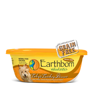 earthborn holistic grain free tobys turkey dinner wet food moist food 8 oz