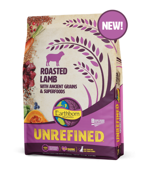 earthborn unrefined roasted lamb dog diet dog food ancient grains superfoods