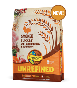 earthborn unrefined roasted turkey dog diet dog food ancient grains superfoods