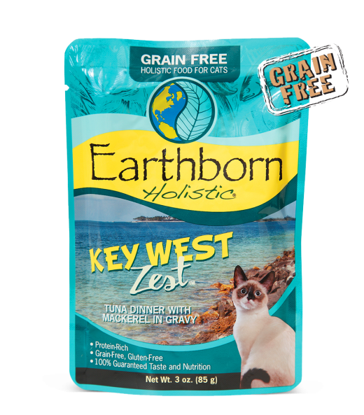 Earthborn Holistic Key West Zest Grain-Free Moist Cat Pouch 3 oz - 12 Pack