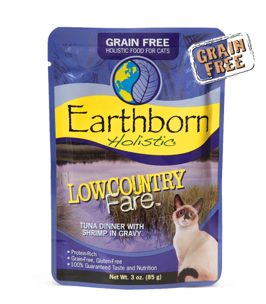 Earthborn Holistic Lowcountry Fare Grain-Free Moist Cat Pouch 3 oz - 12 Pack