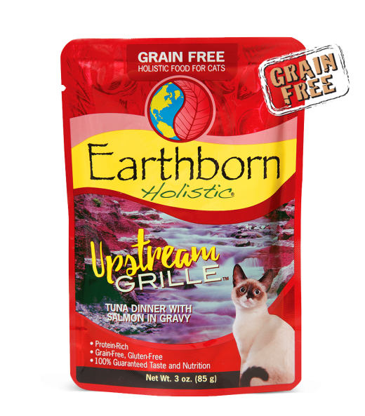 Earthborn Holistic Upstream Grille Grain-Free Moist Cat Pouch 3 oz - 12 pack