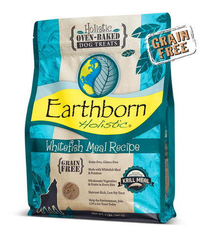 Earthborn Holistic Oven-Baked Grain-Free Whitefish Treat 14 oz