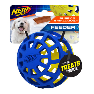 nerf dog exo ball small dog and puppy slow feeder treats holder