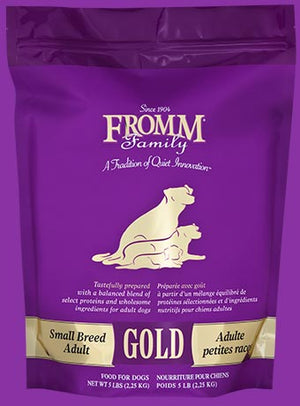 fromm gold adult small breed dog food dog diet