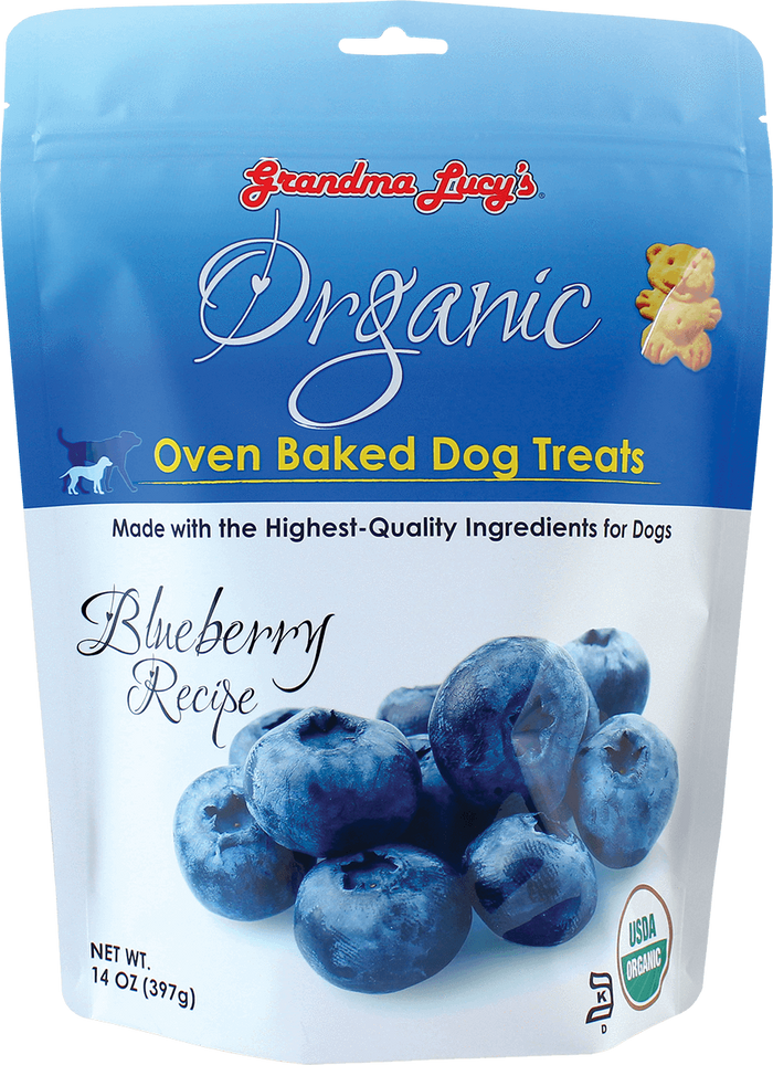 Grandma Lucy's Organic Oven Baked Blueberry Dog Treats 14 oz