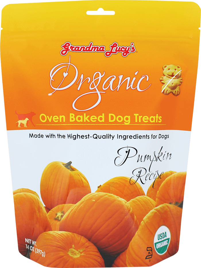 Grandma Lucy's Organic Oven Baked Pumpkin Dog Treats 14 oz