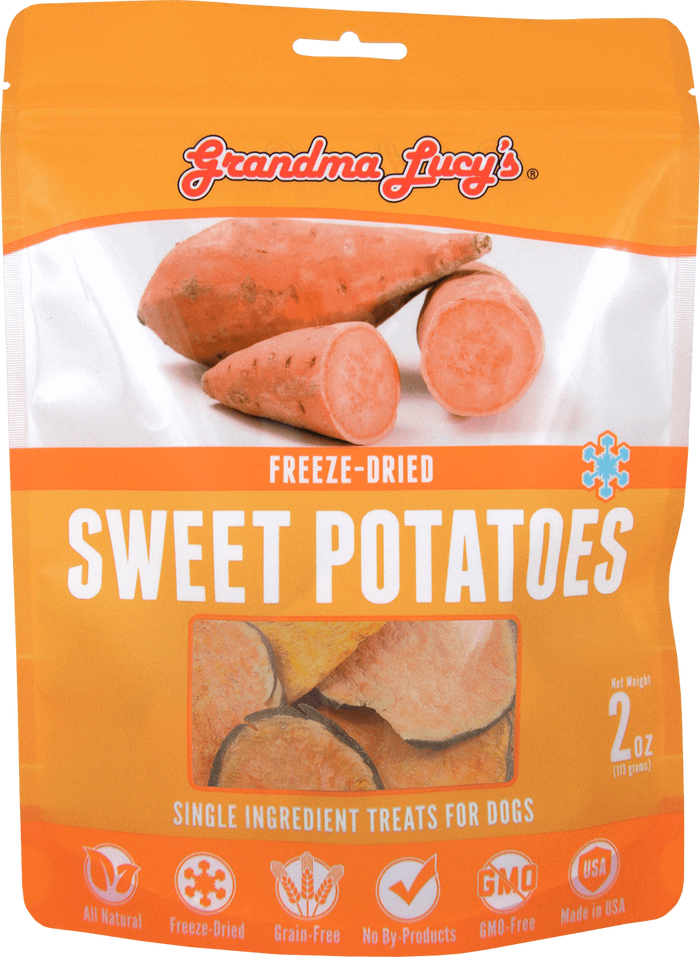 Grandma Lucy's Freeze Dried Sweet Potato 2 oz - Single Ingredient