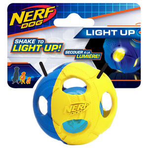 nerf dog led bash ball small