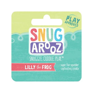 snugarooz snug arooz plush dog toy lilly the frog lily 712038962310 077017