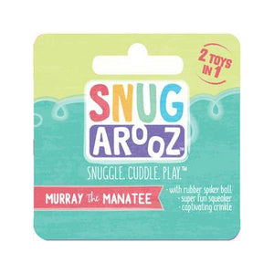 snugarooz snug arooz plush dog toy murray the manatee 712038962969 077242