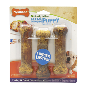 Nylabone Healthy Edibles Puppy Chew Treats Turkey & Sweet Potato