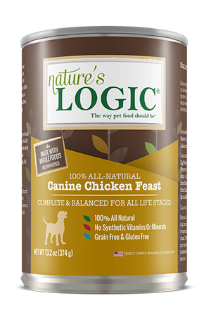 natures logic canine chicken feast wet dog food dog diet