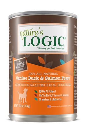 natures logic canine duck and salmon feast wet dog food dog diet