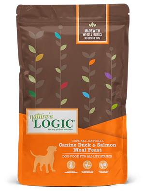 natures nature's logic duck salmon canine dog food dog diet