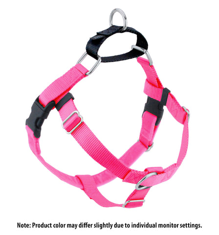 Freedom No Pull Harness - Hot Pink & Black