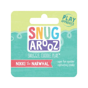 snugarooz snug arooz plush dog toy nikki the narwhal 712038962600 077222