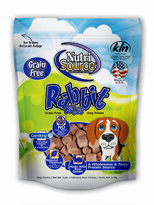 NutriSource Moist Grain-Free Rabbit Dog Bites 6 oz