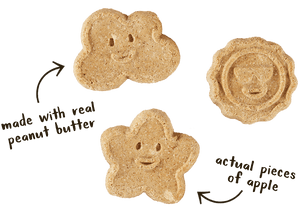 Cloud Star Wag More Bark Less Oven Baked Biscuits - Peanut Butter & Apples 14 oz