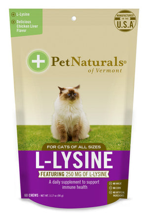 pet naturals of vermont for cats l - lysine 60 count