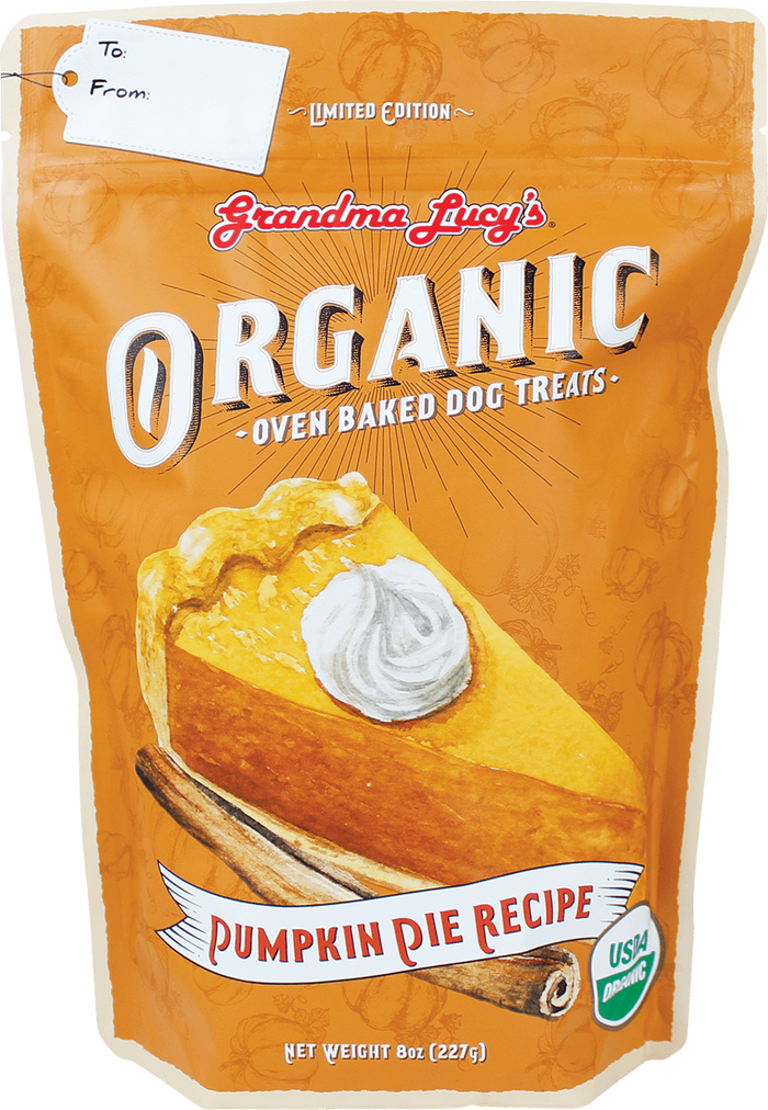 Grandma Lucy's Limited Edition Pumpkin Pie Dog Treats 8 oz