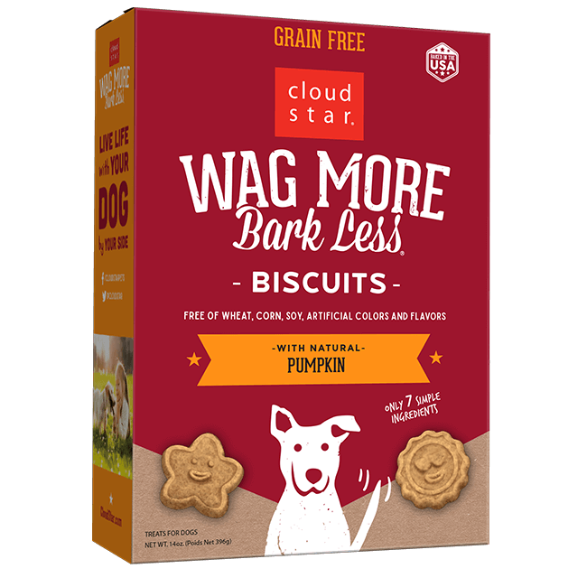 Cloud Star Wag More Bark Less Oven Baked Biscuits - Pumpkin 14 oz