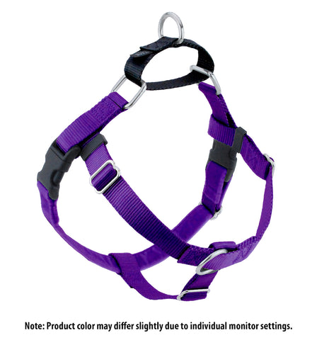Freedom No Pull Harness - Purple & Black
