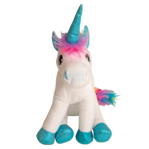 snugarooz snug arooz plush dog toy rainbow the unicorn white 712038962587 07720