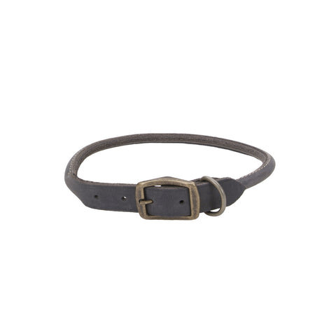 Circle T Rolled Rustic Leather Collar Slate Grey