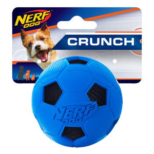 2183 vp6845 846998021838 nerf dog rubber soccer crunch ball small 2.5 inch