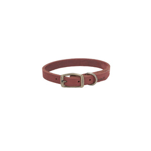 Circle T Rustic Leather Collar Brick Red